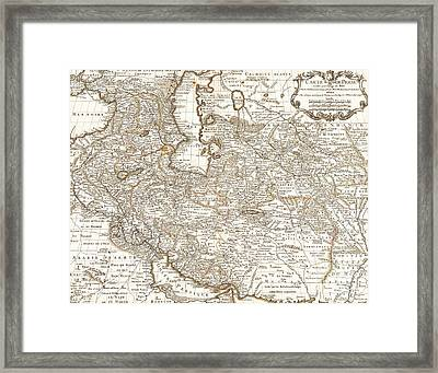 Persia Saudi Arabia Iraq Country Antique Vintage Map Framed Print by ELITE IMAGE photography By Chad McDermott