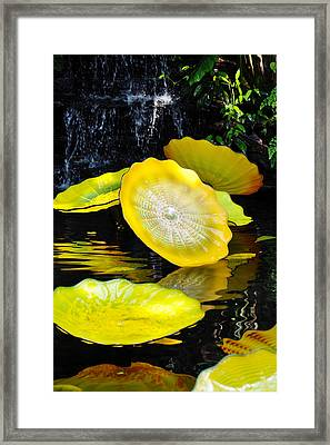 Persian Lily Pads Framed Print