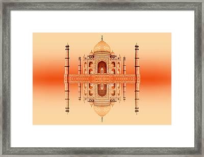 Persian Poem Of Love Framed Print