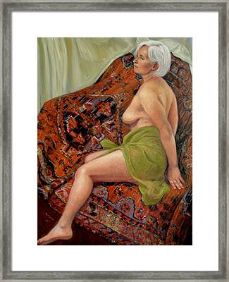 Persian Rug 3 Framed Print by Donelli  DiMaria