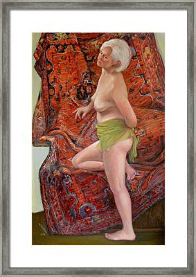 Persian Rug 4 Framed Print by Donelli  DiMaria