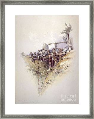 Persian Water Wheel Used For Irrigation Framed Print
