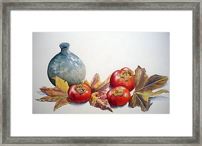 Persimmon Trio Framed Print by Sandy Fisher