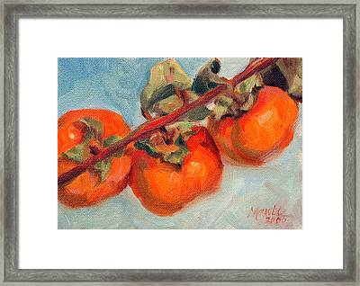 Persimmons Framed Print by Athena  Mantle