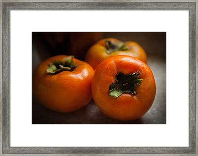 Persimmons Framed Print by Karen Wiles