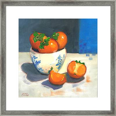 Persimmons Framed Print by Susan Thomas