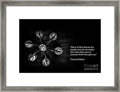 Persistence Framed Print by Charuhas Images