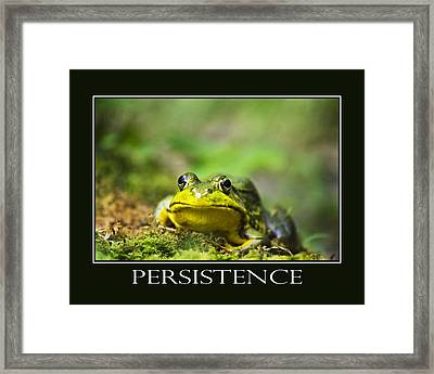 Persistence Inspirational Motivational Poster Art Framed Print by Christina Rollo