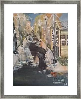 Framed Print featuring the painting Persistence by Saundra Johnson