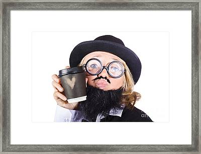 Person With Cup Of Coffee Framed Print by Jorgo Photography - Wall Art Gallery