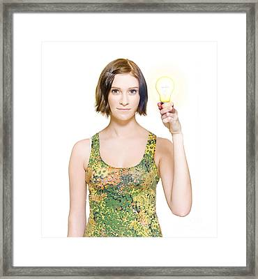 Person With Innovative Solution Framed Print by Jorgo Photography - Wall Art Gallery