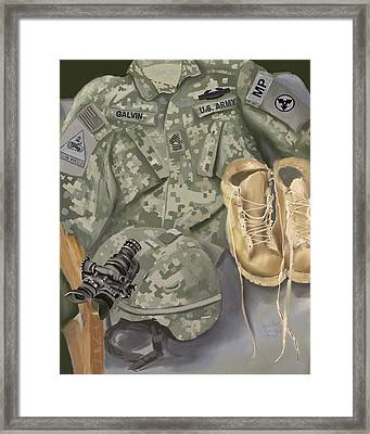 Personalized Art Designed By A Soldier For A Soldier Retiring Or Pcsing   Framed Print