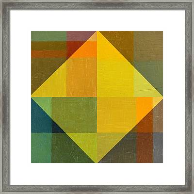 Perspective In Color Collage 2 Framed Print by Michelle Calkins