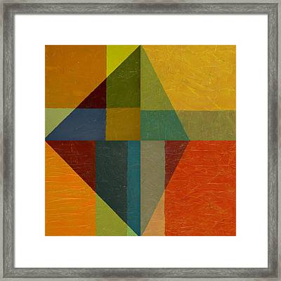 Perspective In Color Collage Framed Print