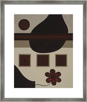 Perspective Of A Vase Framed Print by Sandy Bostelman