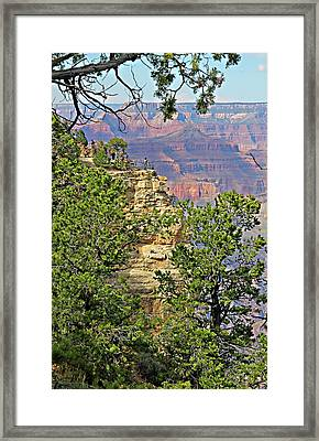 Perspective Of Grand Canyon Framed Print by Linda Phelps