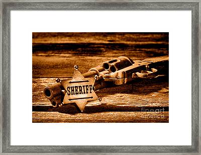 Persuasion - Sepia Framed Print by Olivier Le Queinec