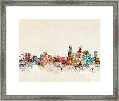 Framed Print featuring the painting Perth Australia by Bri B