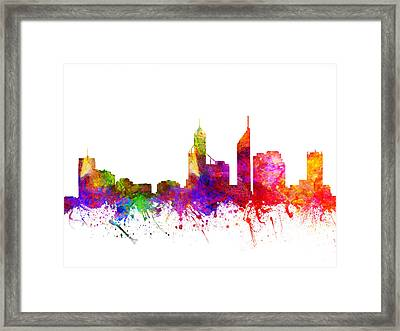 Perth Australia Cityscape 02 Framed Print by Aged Pixel