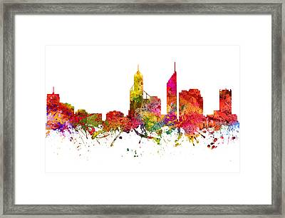 Perth Australia Cityscape 08 Framed Print by Aged Pixel