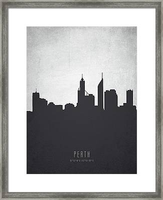Perth Australia Cityscape 19 Framed Print by Aged Pixel