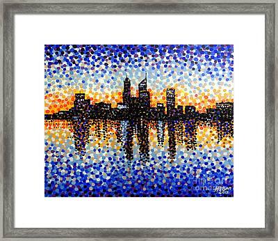 Perth City Sunrise Framed Print by Alan Hogan