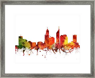 Perth Cityscape 04 Framed Print by Aged Pixel