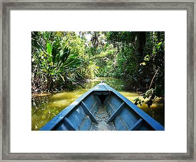 Peru Amazon Boat Framed Print by Photo, David Curtis