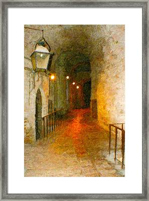Perugia Grotto 1 Framed Print by Rob Tullis