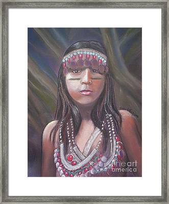 Peruvian Girl Framed Print by Julie Brugh Riffey