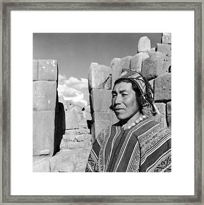 Peruvian Man Framed Print by Pet
