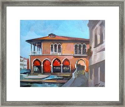 Pescheria Di Rialto Framed Print