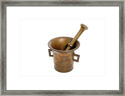 Pestle And Mortar Framed Print by Ps-i