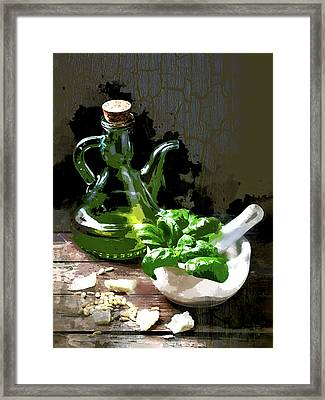 Pesto Anyone Framed Print