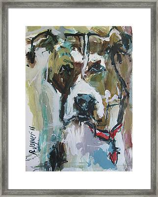 Framed Print featuring the painting Pet Commission Painting by Robert Joyner