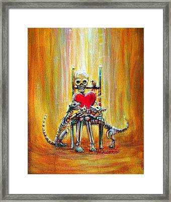 Framed Print featuring the painting Pet Love by Heather Calderon