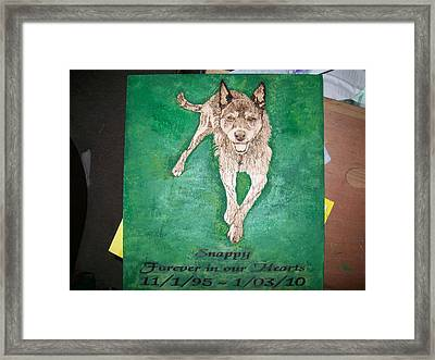 Pet Portrait Wood Burn Wall Plaque U Provide Picture By Pigatopia Framed Print by Shannon Ivins