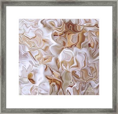 Petals Beige Framed Print