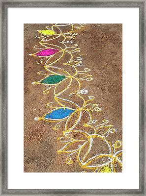 Petals In Sand Framed Print