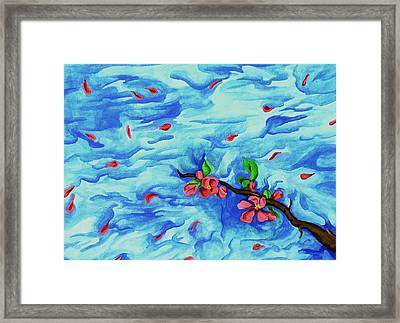 Petals In The Wind I Framed Print by Robert Morin