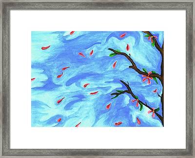 Petals In The Wind II Framed Print by Robert Morin