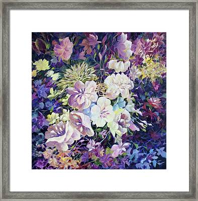 Framed Print featuring the painting Petals by Joanne Smoley