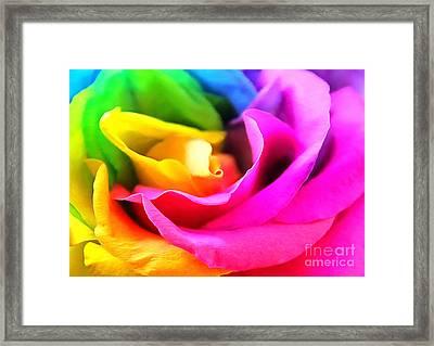 Petals Of Harmony Framed Print