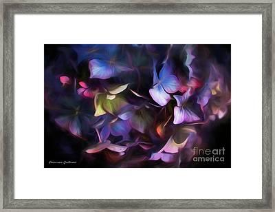 Petals Of Hydrangea Framed Print