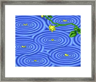Petals On Water IIi Framed Print