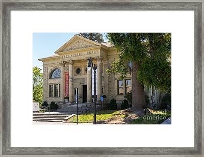 Petaluma Free Public Library And Petaluma Museum Petaluma California Usa Dsc3779 Framed Print