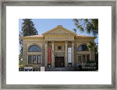 Petaluma Free Public Library And Petaluma Museum Petaluma California Usa Dsc3780 Framed Print by Wingsdomain Art and Photography