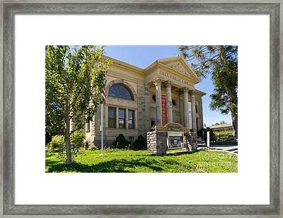Petaluma Free Public Library And Petaluma Museum Petaluma California Usa Dsc3782 Framed Print by Wingsdomain Art and Photography