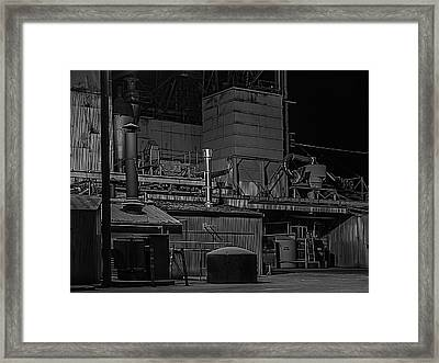 Petaluma Mill Black And White Framed Print