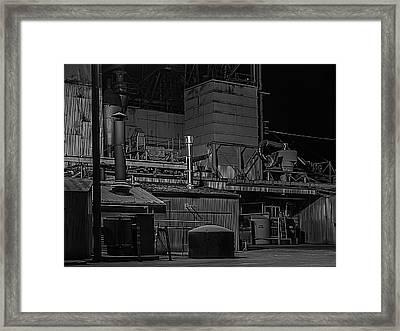 Petaluma Mill Black And White Framed Print